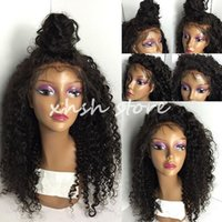 Wholesale Deep Curly Brazilian Full Lace wigs Hair Glueless Full Lace Human hair wigs with baby hair lace front wig for black women
