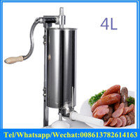 Wholesale Manufacturers selling household small manual sausage stuffer machine L Stainless steel Manual Sausage Maker