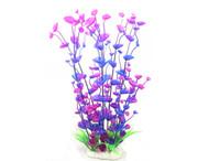 Wholesale Fish Tank Ornaments Artificial Water Plants Home Aquarium Decoration cm High Vivid Plastic Purple Hot J018