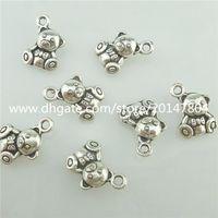 bearing details - Details about Alloy Antique Silver Vintage Mini Bear Toy Pendant Charm
