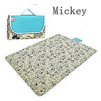 Wholesale Oxford Cloth and Waterproof Outdoor Picnic Mat Or Yoga Mat Mickey paragraph Multiple Size and Multicolor