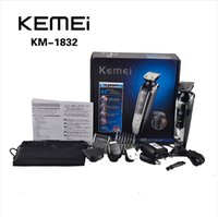 barber hair trimmer - 5 in KEMEI Electric Shaver KM Rechargeable Groomer Technology Trimmer Hair Care Home Multifunctional Barber EU Plug Black FREE0604053