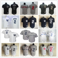 baseball ny yankees - New York Derek Jeter Gray With GMS The Boss Patch and White Pinstripes Black NY Yankees Baseball Jerseys with no name on back