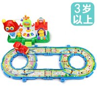 Wholesale Children multifunctional train track early childhood music track female cartoon puzzle paradise boy toy