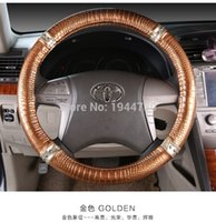 Wholesale Personalized Crocodile Car Leather Steering Wheel Cover For volante esportivo nissan primera mitsubishi Fit for Cars