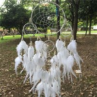 wind chime - Big Dream Catcher White Wind Chimes Originality Indian Style for Home Deco rHanging Decorations Car Ornaments