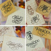 Wholesale PC High Quality Wooden Rectangle Stamp Rubber Craft Favour Scrapbooking Thank You Love Stamps Sizes