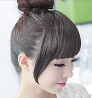 Wholesale Color Available Synthetic Fiber Front Bang Hair Bang Extension With Clip Hair Fringe Cheap Hair Extension