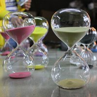 Wholesale 1 color Glass Hourglass Sand Timer Fashion Home Decor Birthday Minute Love Valentine s Day Gift Ampulheta Reloj De Arena