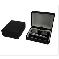 Wholesale MEN S GIFT CUFFLINKS TIE CLIP BOX JEWELRY BOX HIGH QUALITY CTB101