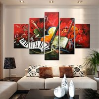 abstract music pictures - Idea Oil Painting Hand Painted Modern Abstract canvas paintings piece Wall art House of Music art picture decoration
