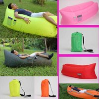 Wholesale Fast Inflatable Air Sleeping Bag Nylon Hangout Lazy Sofa Bed Outdoor Lounger Air Sofa Hiking Travel Hangout Beach Bag Bed
