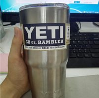 Wholesale YETI oz Cup Rambler Tumbler For Travel Vehicle Beer YETI Mug Tumblerful Bilayer Vacuum Insulated Stainless Steel