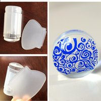 Wholesale New Clear Silicone Nail Art Stamping Stamper Scraper Kit DIY Print Template Manicure Tools