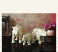 bedroom tv cabinet designs - One set of Elephant Family Ornament Creative Wedding Gift Decoration Living Room TV Cabinet Lucky