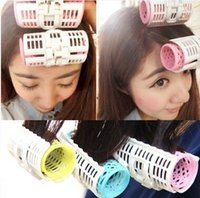 Wholesale DIY Magic Hair Curler Plastic Bang Roller with Big Size Colors Option Hair Curling Leverag Circle Perm Tools