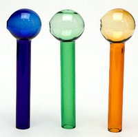 amber bowl - colored Oil Burner Thick cm glass pipe colorful glass tube glass puff bowl blue green amber all clear
