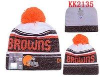 american football season - 2016 New Season Cleveland American Browns Beanies football Teams Beanies Mens Sports Beanies Warm women Knitted Hats More Style
