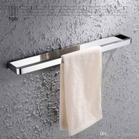 Wholesale Han Pai Solid Brass Bathroom Accessories Towel Bar Holder Chrome Finished Wall Mounted Bath Acessorios de banheiro HP7704