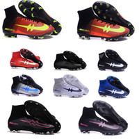 Wholesale Cheap Band Shoes - 2016 Cheap Soccer shoes Mens Mercurial Superfly FG Football Boots Soccer Cleats Outdoor Shoes Botas De Futbol free shipping
