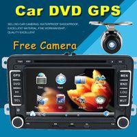 Wholesale 7 Inch Din Multimedial Car DVD GPS Navigation For VW GOLF New Polo New Bora JETTA B6 PASSAT SKODA G USB BT IPOD FM RDS Map