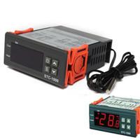 Wholesale Digital Temperature Controller STC LCD Thermostat Regulator Thermostats w Sensor V V AC V V Controllers Thermostat Aquarium