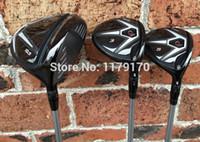Wholesale 3PCS D2 Wood Set D2 Golf Driver Clubs quot quot F Fairway Wood R S Flex Graphite Shaft With Head Cover