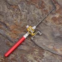Wholesale Mini Portable Pocket Fish Pen Aluminum Alloy Fishing Rod Pole Reel Combos KSKS Cheap pen drive operating system