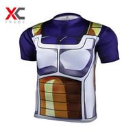 armor shirts men - New Printed Dragon Ball T Shirt Goku Vegeta Men Armor d T shirt Tops Fitness Sport Gym Tee Shirt Dragon ball z t shirts for men