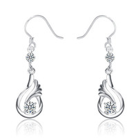 Wholesale earrings sterling silver earrings hanging style earrings iice latest fashion woman gift silver NO158