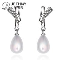 beaded earings - Pearl Nail Korean Elegant High Quality Earings Beaded Silver Bridal Bohemian Ear Rings Unisex Earrings Jewelry