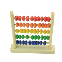 Wholesale Small Abacus Educational Toy For Kids Children s Wooden Early Learning Toy K5BO
