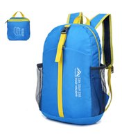 Wholesale 25L High quality Outdoor ultra portable folding men and women s travel backpack mountaineering bag waterproof hiking bag camping bag