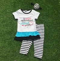 school clothes - 2016 Summer back to school outfit girls cute clothes white preschool kids clothing stripes pants set baby kids with accessories
