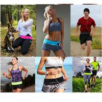 Wholesale Unisex Elasticated Waist Belt Bag For Tennis yoga Running Hiking Fitness Zip Pouch Mobile Phone Money Key