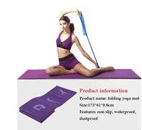 Wholesale Foldable Yoga Mat For Beginners Anti Slip por2016 table sport mat fitness mat folding yoga blanket yoga towel cm