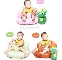 Wholesale Baby Sofa Inflatable Kids Learn stool Training seat Bath Dining Chair PVC Seat Bath Chair baby Bath seat Dining Chair PVC Seat LJJK444