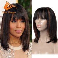 Cheap Brazilian Silky Straight Ombre Wig Ombre Bobs Wig 100% Human Hair Ombre Bob Wigs Two Tone Color