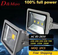 Wholesale Refletor Led Flood Light IP65 Waterproof W W W W W W W W AC85V V Projecteur Led Exterieur Spotlight Outdoor Lighting