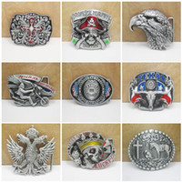 Wholesale 2016 Styles Skull Eagle Cross Confederate Southern South Rebel Dixie Flag CSA Army Big Belt Buckle Buckles Free DHL E872L