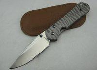 best gifts titanium - CHRIS REEVE CR Sebenza Folding Knife Blade Steel Corrugated Coating titanium steel Best Gift