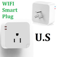 Wholesale Intelligent Wireless Wifi Smart Plug IOS Android Smartphone APP Timer Switch US Socket Remote Control APP Wifi Enhanced Function