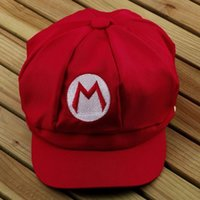 Wholesale 10pcs Fashionable Multi colors Adult Super Mario Bros Cosplay Hat Cap Baseball Costume Gift New