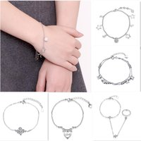 bead set designs - New Beautiful Gorgeous Design Bracelet sterling silver fashion Charm Pretty Jewelry Women cute Bead Love heart Ring styles mix