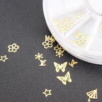 Wholesale 1 X Gold Metal Nail Art Tip Decal Sticker Wheel DIY UV Gel Polish Manicure Decor