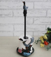 Wholesale 3 Pieces Cast Iron Duck Paper Roll Towel Holder Rustic Painting Design Kitchen Living Ware Metal Furniture Decorating Free Ship