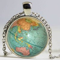 animal planet - Hot glass dome jewelry Vintage Globe Necklace Planet Earth World Map Necklace Art Glass dome pendant necklace