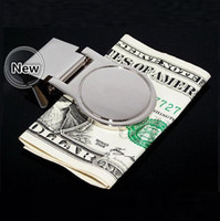 Wholesale New DIY Blank Money Clip Credit Card Holder Silver Stainless steel card holder