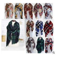 Wholesale Tartan Scarf Plaid Blanket Women Scarf New Designer Unisex Acrylic Basic Shawls Women s Scarves Big Size CM