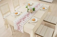 Wholesale Modern and Simple Table Runners with Fish Patterns for Home Use Colors Red or Blue Green2 Sizes